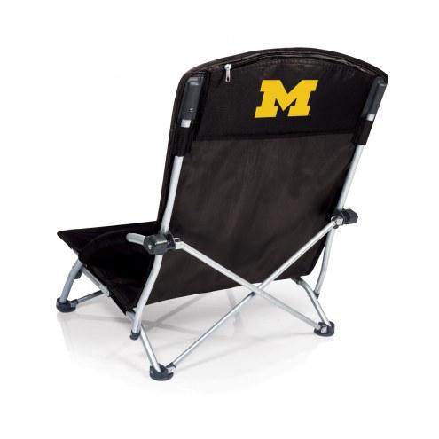 Michigan Wolverines Black Tranquility Beach Chair