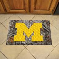 Michigan Wolverines Camo Scraper Door Mat