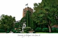 Michigan Wolverines Campus Images Lithograph