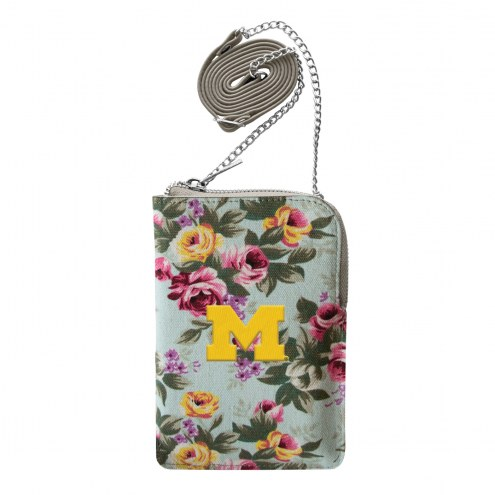 Michigan Wolverines Canvas Floral Smart Purse