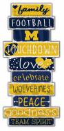 Michigan Wolverines Celebrations Stack Sign