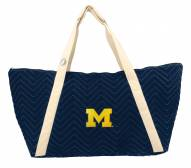 Michigan Wolverines Chevron Stitch Weekender Bag