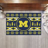 Michigan Wolverines Christmas Sweater Starter Rug