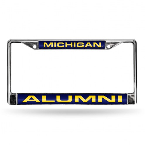 Michigan Wolverines Chrome Alumni License Plate Frame