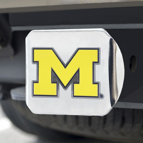 Michigan Wolverines Chrome Color Hitch Cover