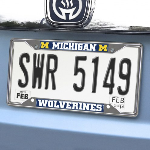 Michigan Wolverines Chrome Metal License Plate Frame