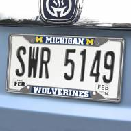 Michigan Wolverines Chrome Metal License Plate Frame
