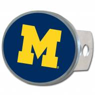 Michigan Wolverines Class II and III Oval Metal Hitch Cover
