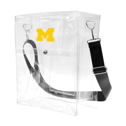 Michigan Wolverines Clear Ticket Satchel