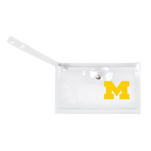 Michigan Wolverines Clear Ticket Wristlet
