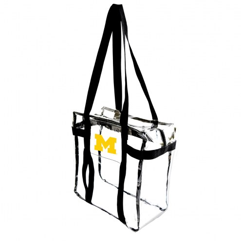 Michigan Wolverines Clear Tote Along