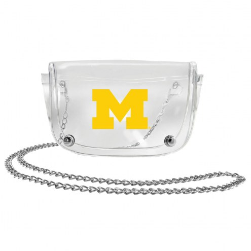Michigan Wolverines Clear Waistpack