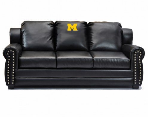 Michigan Wolverines Coach Leather Sofa