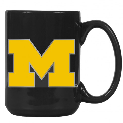 Michigan Wolverines College 2-Piece Ceramic Coffee Mug Set