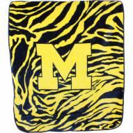Michigan Wolverines Raschel Throw Blanket