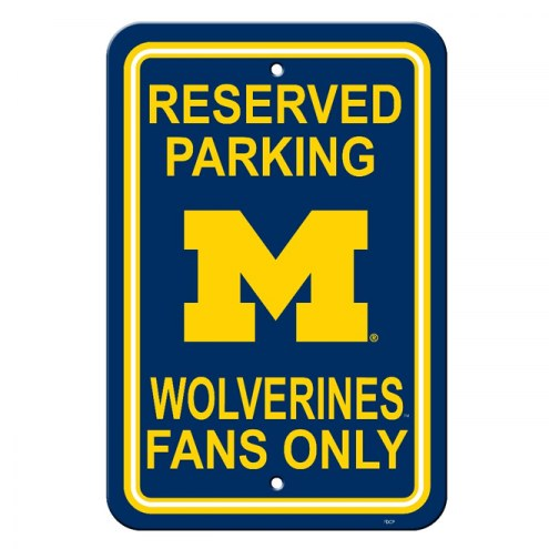 Michigan Wolverines College Parking Sign