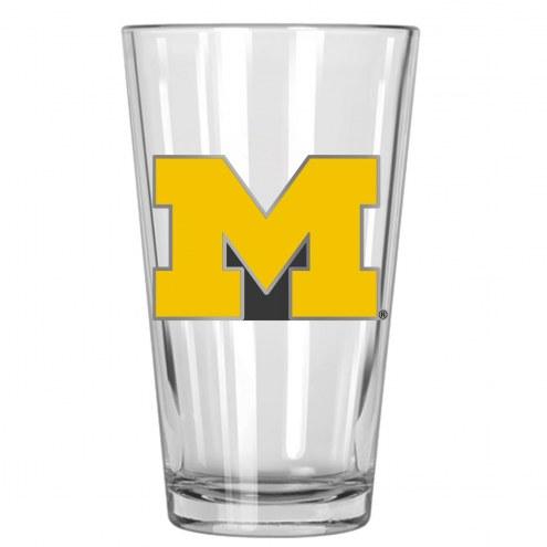 Michigan Wolverines College 16 Oz. Pint Glass 2-Piece Set
