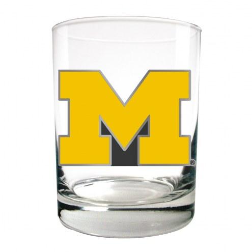 Michigan Wolverines College 2-Piece 14 Oz. Rocks Glass Set