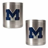 Michigan Wolverines College Stainless Steel Can Holder 2-Piece Set