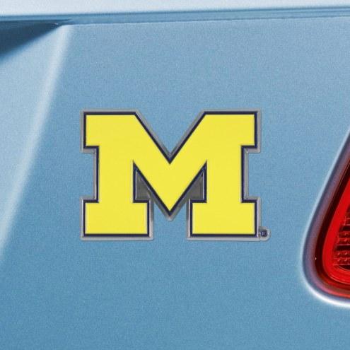 Michigan Wolverines Color Car Emblem