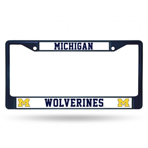 Michigan Wolverines Color Metal License Plate Frame