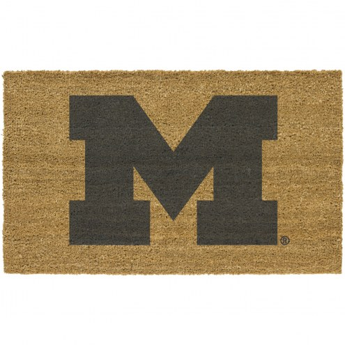 Michigan Wolverines Colored Logo Door Mat