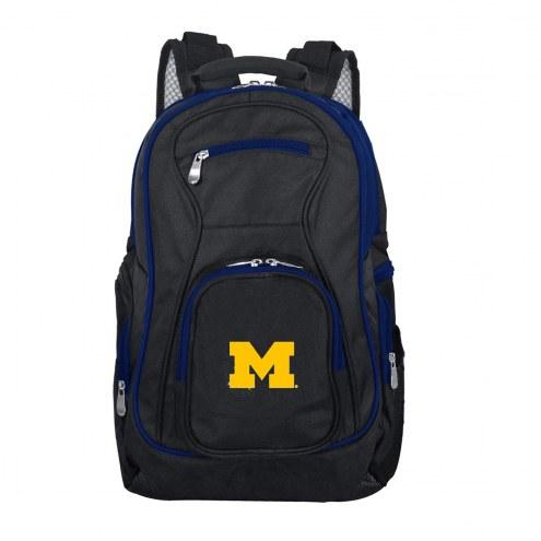 NCAA Michigan Wolverines Colored Trim Premium Laptop Backpack
