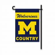 Michigan Wolverines Country Garden Flag
