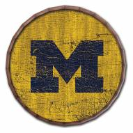 "Michigan Wolverines Cracked Color 24"" Barrel Top"