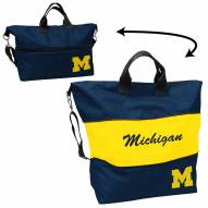 Michigan Wolverines Crosshatch Expandable Tote