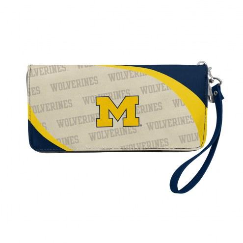 Michigan Wolverines Curve Zip Organizer Wallet