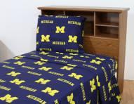 Michigan Wolverines Dark Bed Sheets
