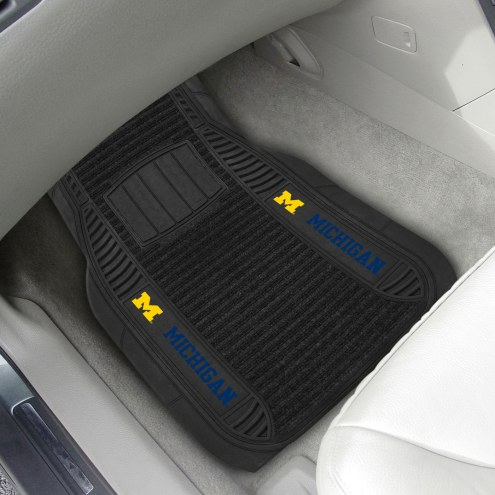 Michigan Wolverines Deluxe Car Floor Mat Set