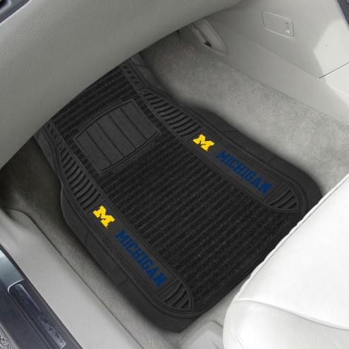 Michigan Wolverines Deluxe Car Floor Mat Set