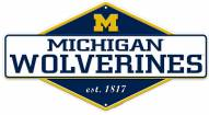 Michigan Wolverines Diamond Panel Metal Sign