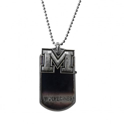 Michigan Wolverines Dog Tag Charm Necklace