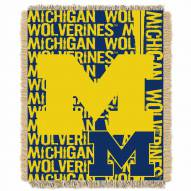 Michigan Wolverines Double Play Woven Throw Blanket
