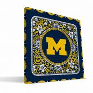 Michigan Wolverines Eclectic Canvas Print