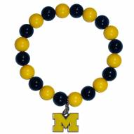 Michigan Wolverines Fan Bead Bracelet
