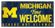 Michigan Wolverines Fans Welcome Sign