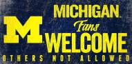 Michigan Wolverines Fans Welcome Wood Sign