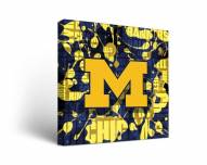 Michigan Wolverines Fight Song Canvas Wall Art
