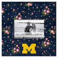 "Michigan Wolverines Floral 10"" x 10"" Picture Frame"