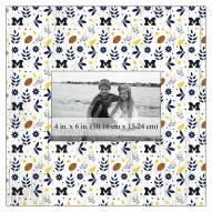 "Michigan Wolverines Floral Pattern 10"" x 10"" Picture Frame"