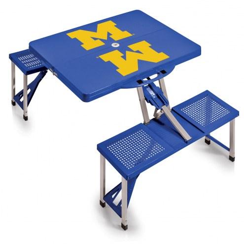 Michigan Wolverines Folding Picnic Table