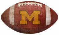 Michigan Wolverines Football Shaped Sign