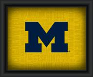 Michigan Wolverines Framed Word Cloud