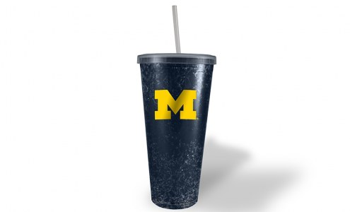 Michigan Wolverines Freezer Straw Tumbler