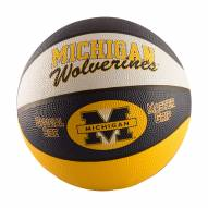 Michigan Wolverines Full Size Rubber Basketball
