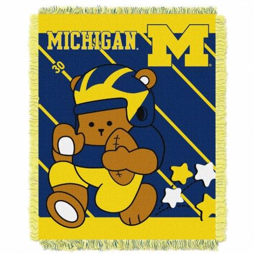 Michigan Wolverines Fullback Baby Blanket